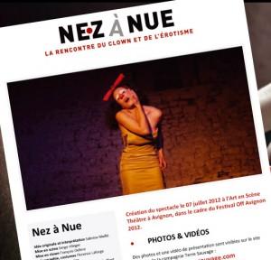 Dossier de presse Nez à Nue - Compagnie Terre Sauvage